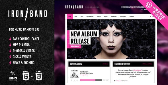 Plantilla de WordPress: IronBand