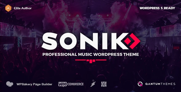 Plantilla de WordPress: Sonik